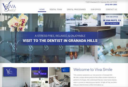 Los Angeles Dental Website Design Enchanting Dental Office Website Design
